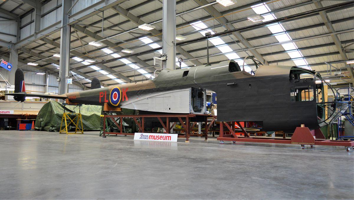 The Hampden bomber side view
