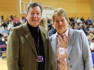 Gill Eatough with Graham Guest of Telford College – one of more than 40 organisations supporting the Virtual Careers Festival