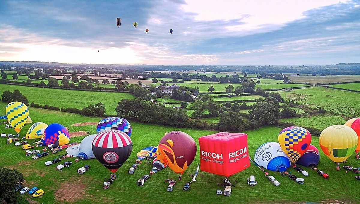 Oswestry Charity Balloon Festival. Pic: Virtual Shropshire Drone Rangers