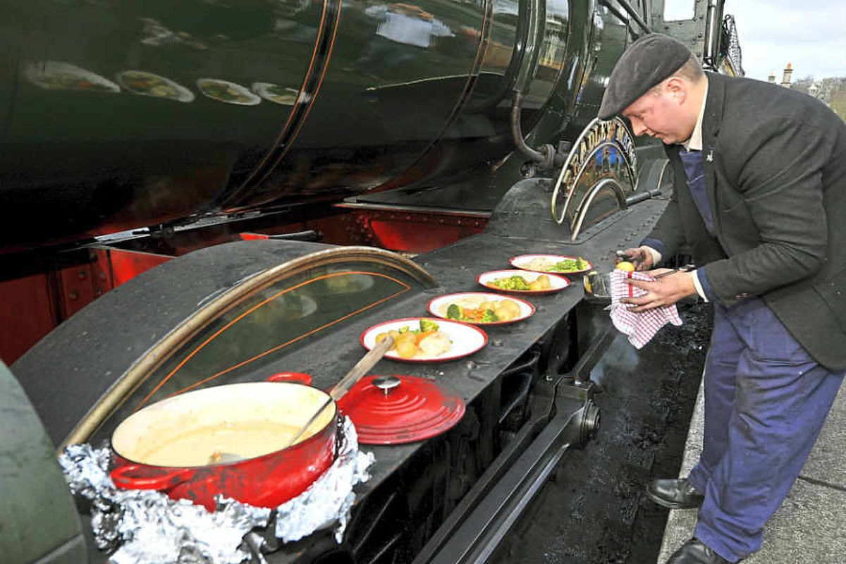 Meals on wheels: Severn Valley Railway driver uses steam engines to prepare dishes - with video