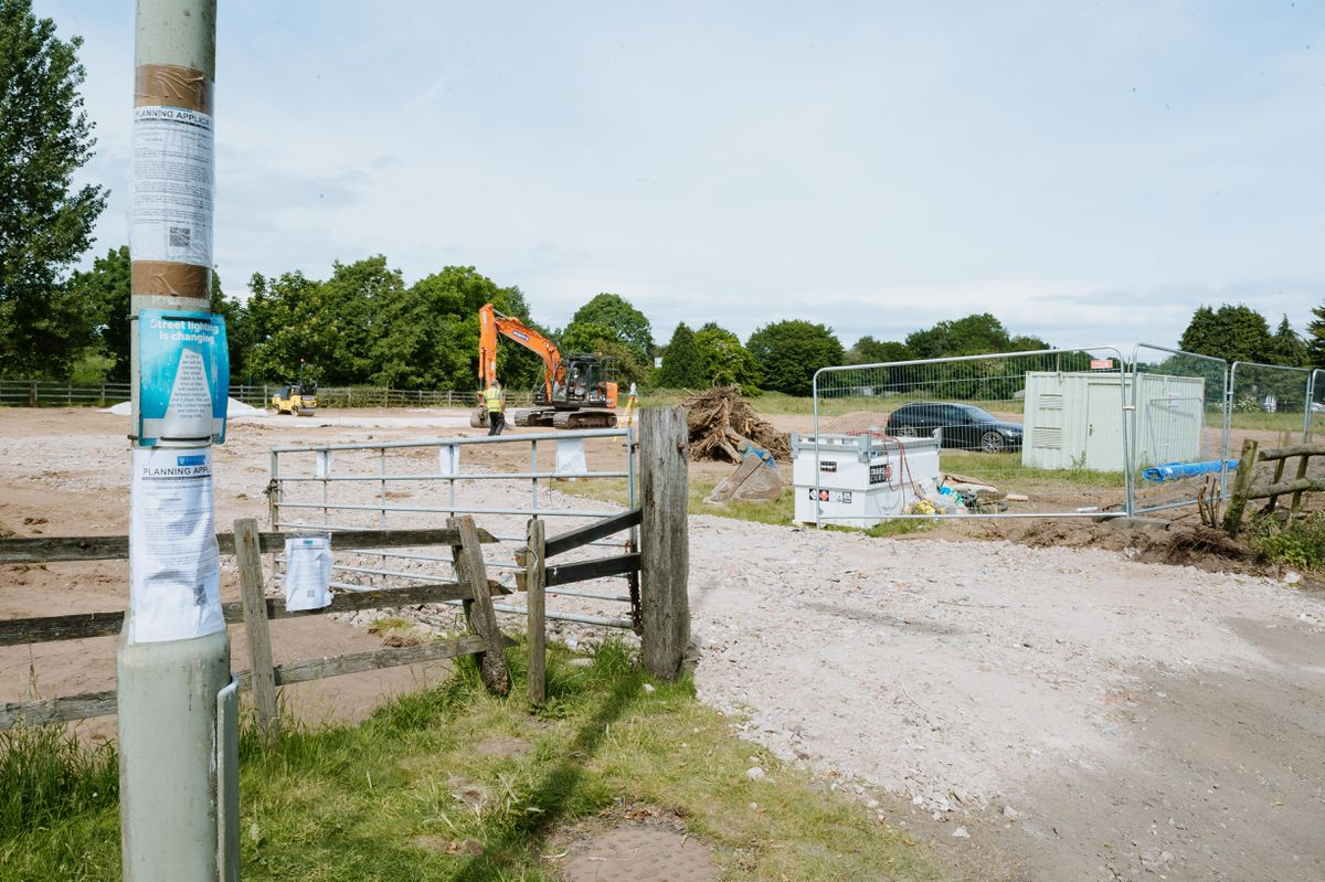 The ground has been broken to begin the work to create a McDonald's in Market Drayton