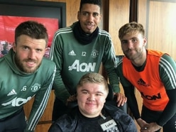 Telford student Luke's dream day as he meets his Manchester United football heroes