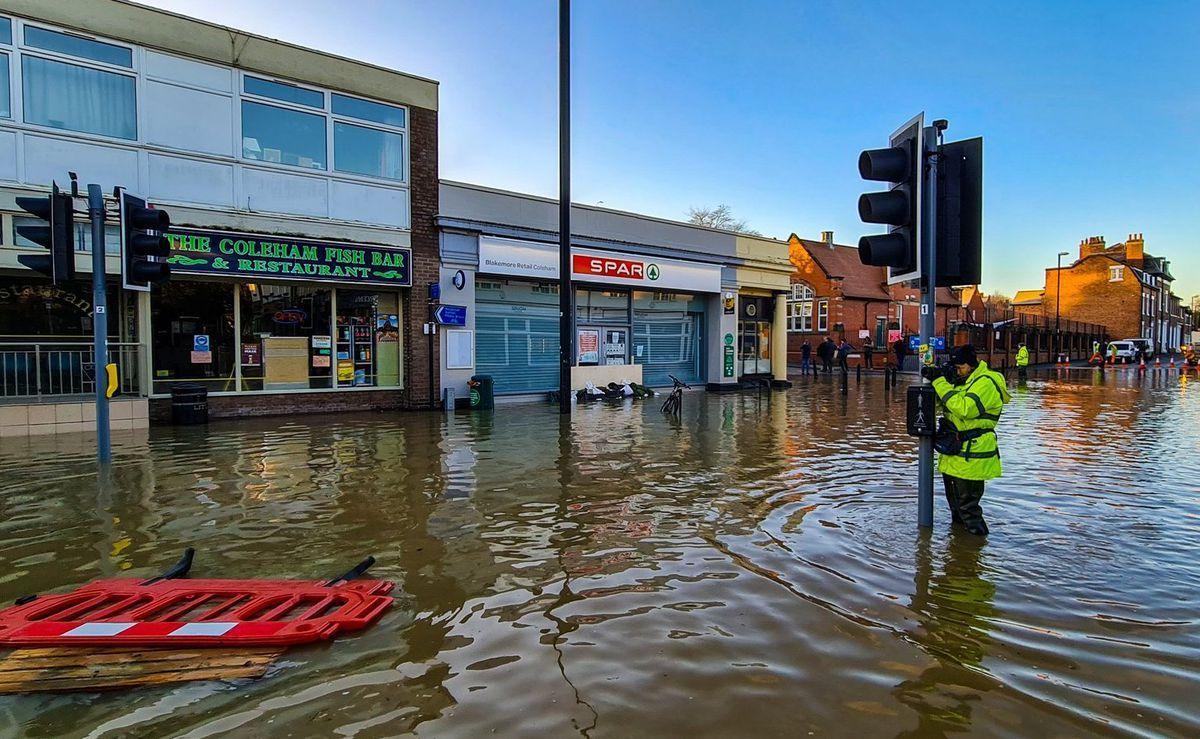 Flooding in Shrewsbury earlier this year