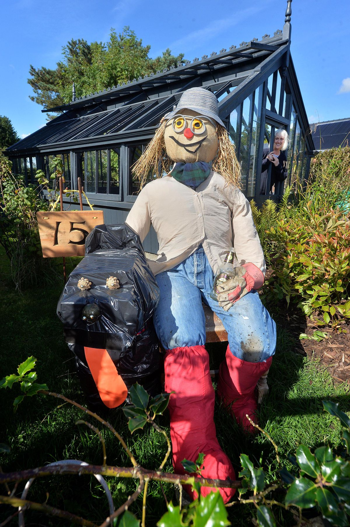 Andy the scarecrow and his dog