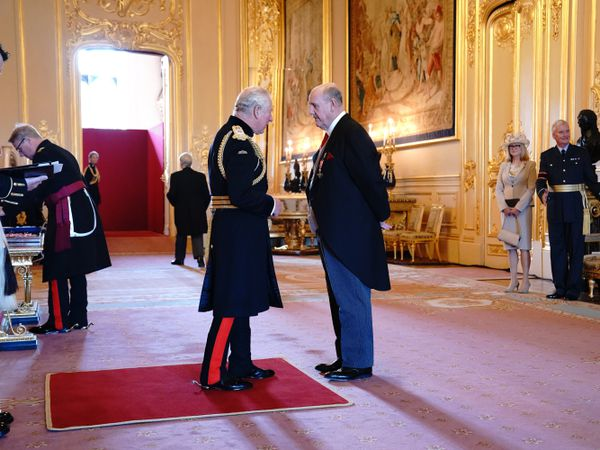 Brian Barwick is made an OBE by the Prince of Wales at Windsor Castle