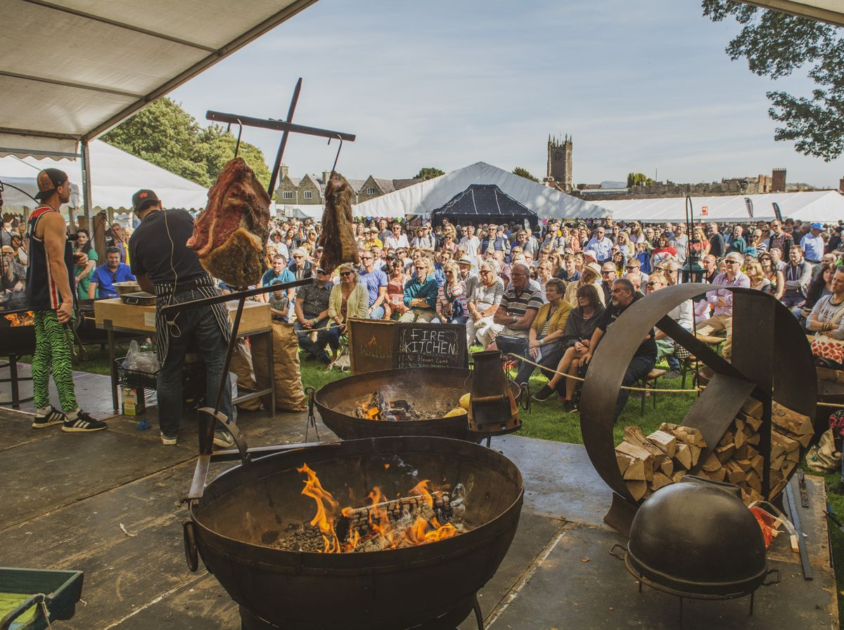 Fire Stage at Ludlow Food Festival - credit Ashleigh Cadet
