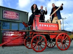 Oswestry's historic fire pump on public display for first time - with video