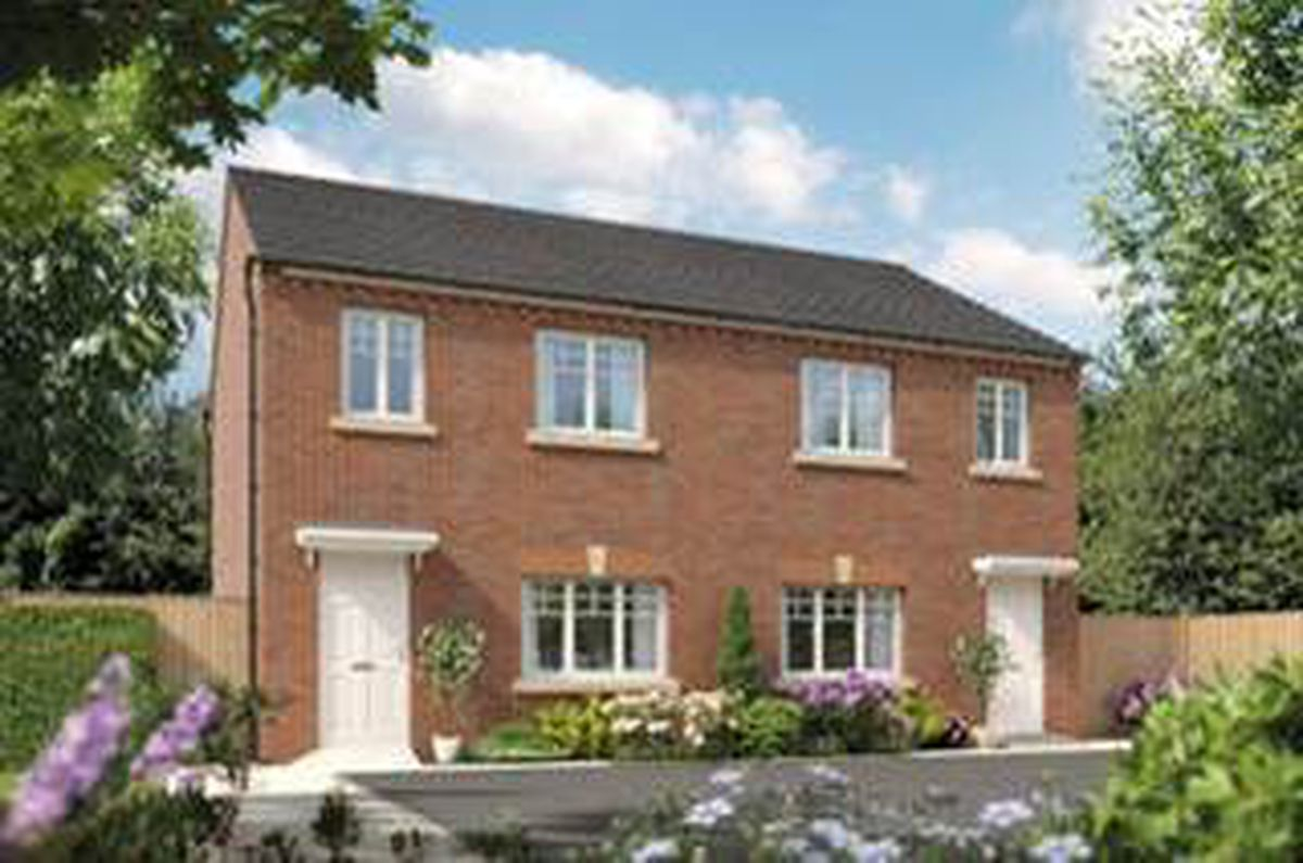 A computer-generated image of the three-bedroom Cherry house type, available at Bellway's The Spinney