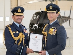 Sultan of Brunei at RAF Shawbury to congratulate helicopter graduates