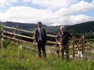 Ken Skates and Howard Sutcliffe, Denbighshire County Council's AONB officer