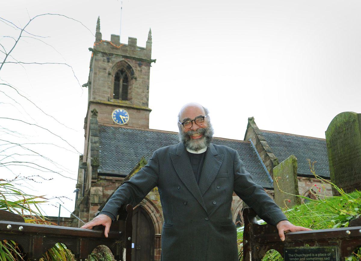 The Rev Dr David Isiorho, at St John the Baptist Church, Ashley