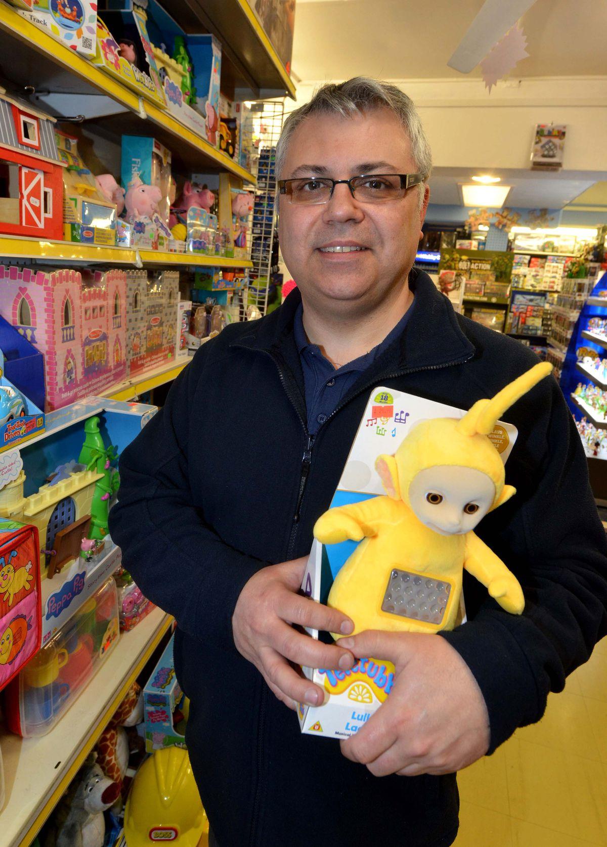 Dave Carter runs the Arcade Toy Shop
