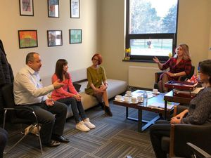 Rob Ford leads a discussion with Moldavian education bosses
