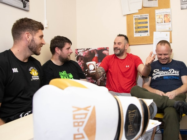 Gloves off on fighting mental health issues at boxing club