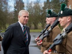 Prince Andrew presents medals at Shropshire army barracks