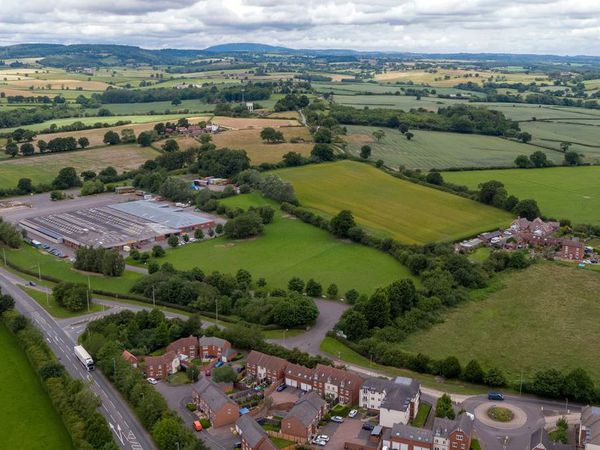 An aerial view of Bridgnorth livestock market, which could be developed for 550 homes