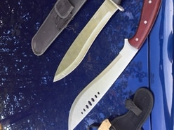 Machetes seized as M54 police swoop on stolen car