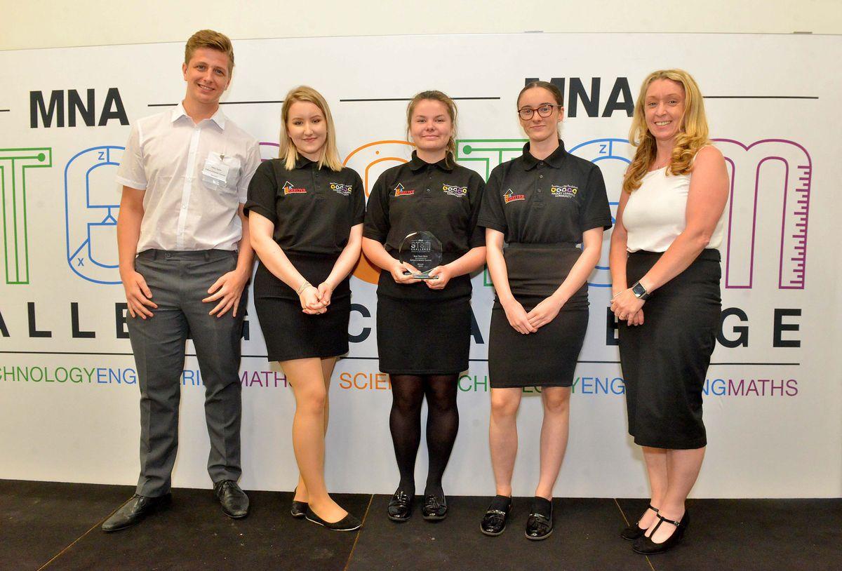 Best Team Work award for Hadley Learning Community