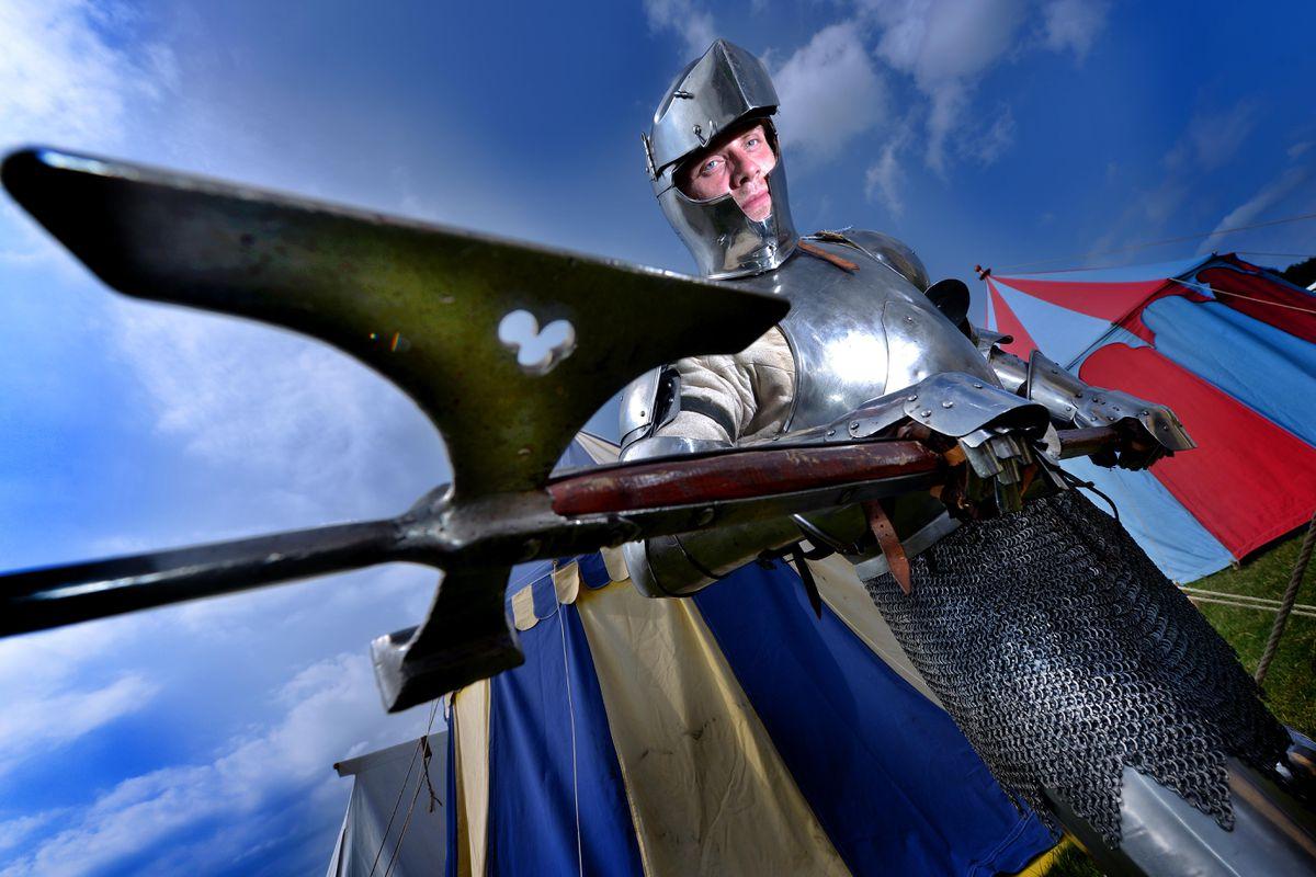 Jacob Clayton at the Battle of Shrewsbury re-enactment weekend