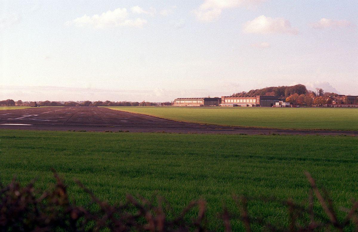 Tern Hill airfield, from where teenage pilot John Carr made his fatal last flight.