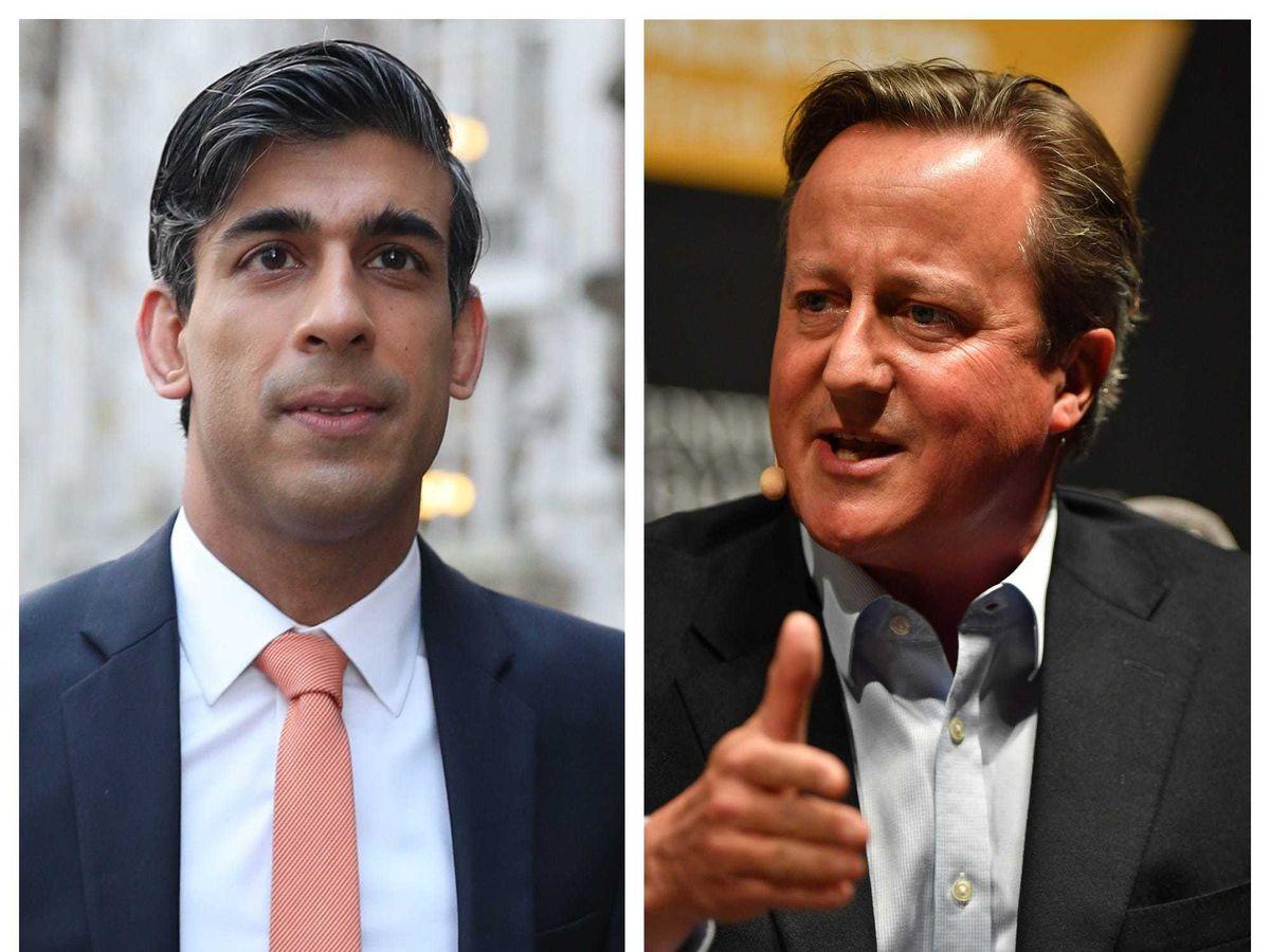 Rishi Sunak and David Cameron