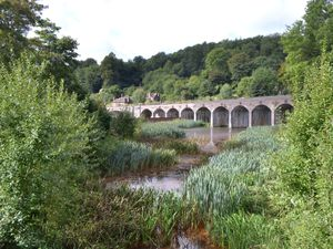 The picturesque railway viaduct at Coalbrookdale