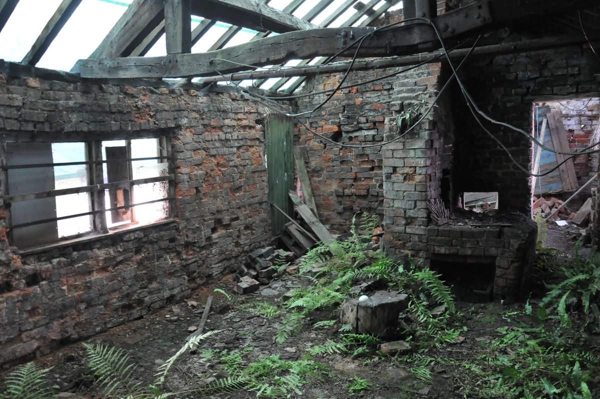 The Blacksmith's forge in Whixall before Studio Bloc transformed it