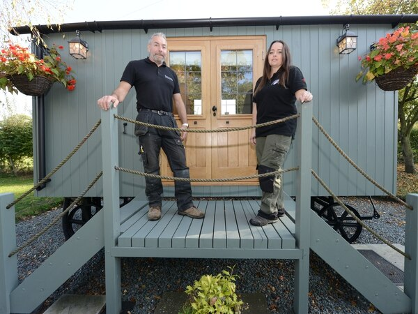 Shepherd huts couple in line for national award
