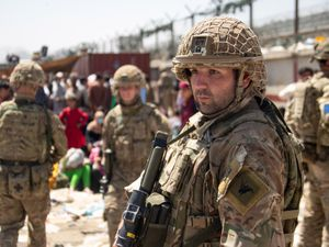 British troops involved in the evacuation from Kabul airport in August