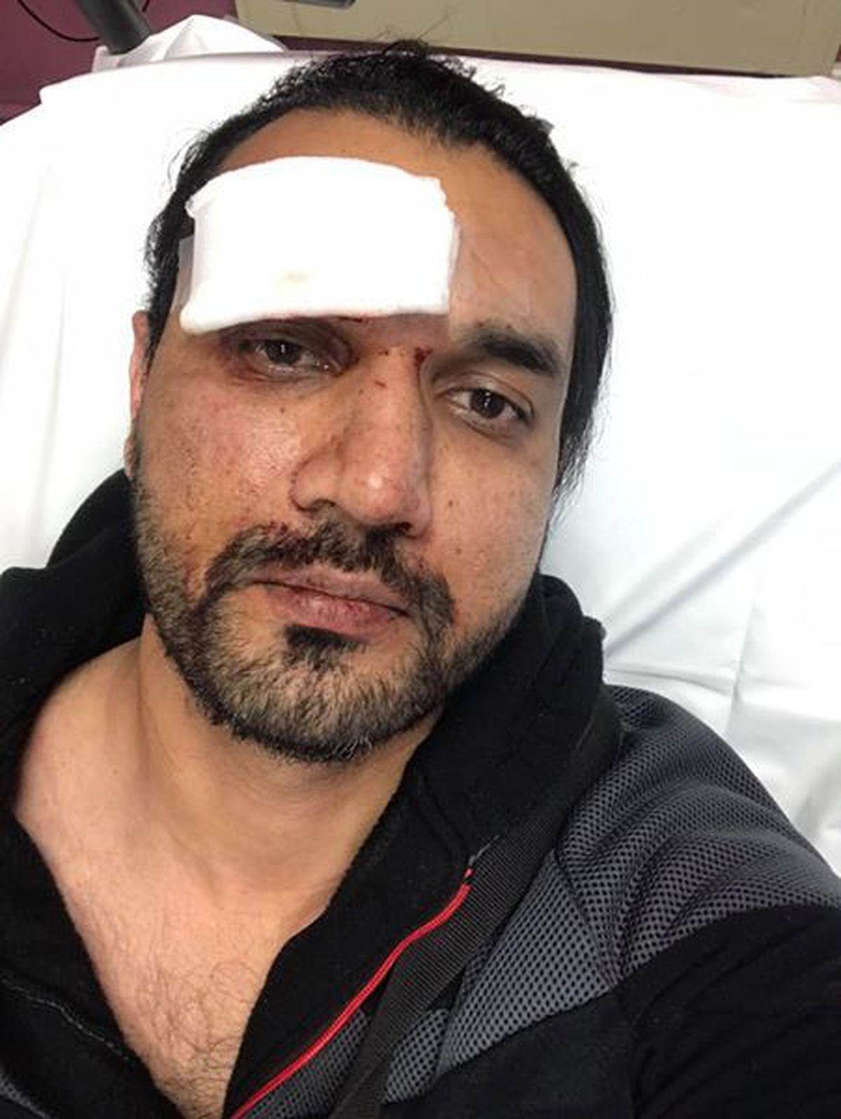 Injured taxi driver Amir Sajjad Malik