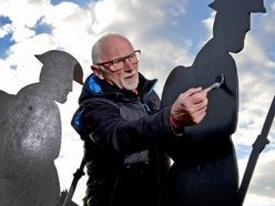 Shadow soldiers symbolise victims in Ludlow