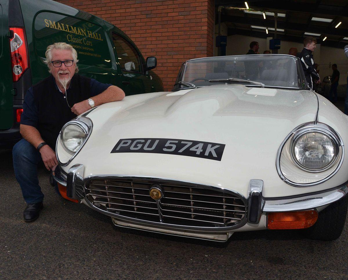 Tony Rickard next to his 1972 V12 E -Type