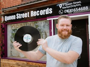 Steve Ball is getting ready to open up his new vinyl record shop, Queen Street Records, in Queen Street, Market Drayton