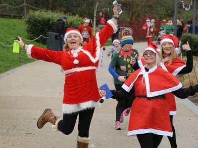 Santas and elves set the pace at Telford fancy dress fun run - with video and pictures