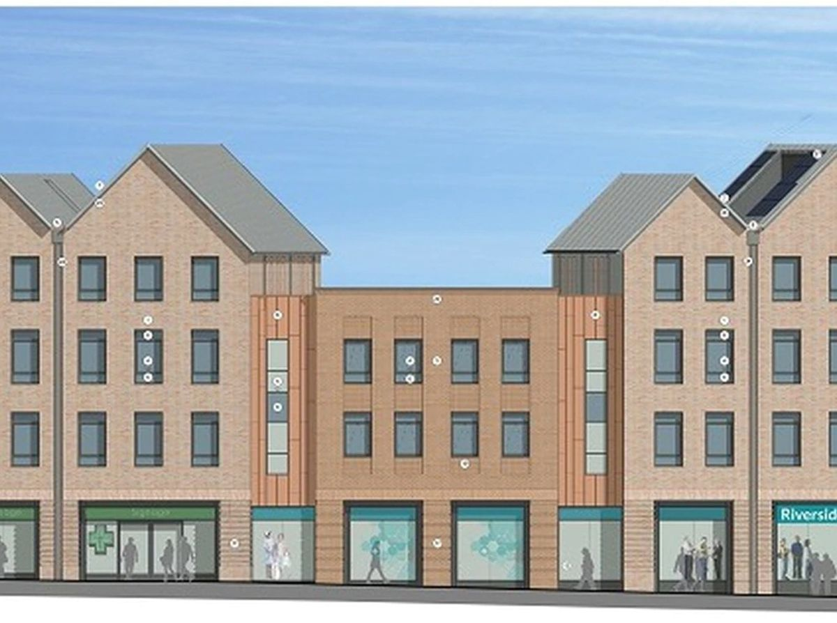 An artist's impression of the new medical practice in Shrewsbury