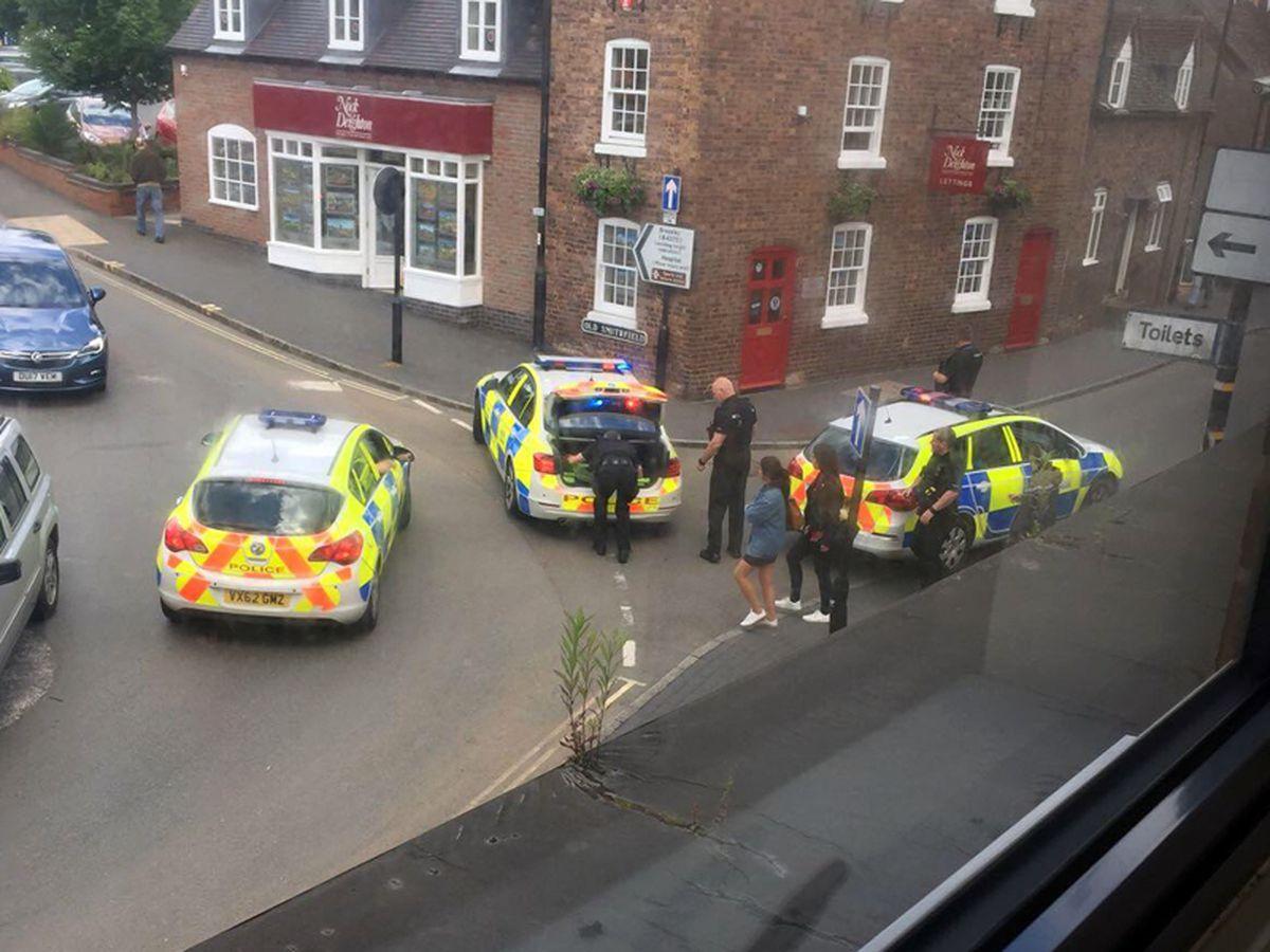 Picture of the scene in Bridgnorth from Jade Porter