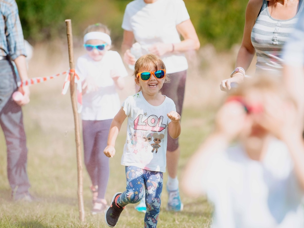 GALLERY: Runners covered in paint at Shropshire Hills Discovery Centre