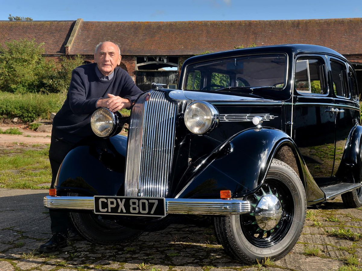 Reg Milner with the Vauxhall 134 he restored with his brother Dennis
