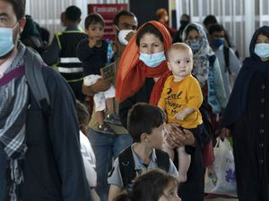 Families are being evacuated from Kabul, Afghanistan