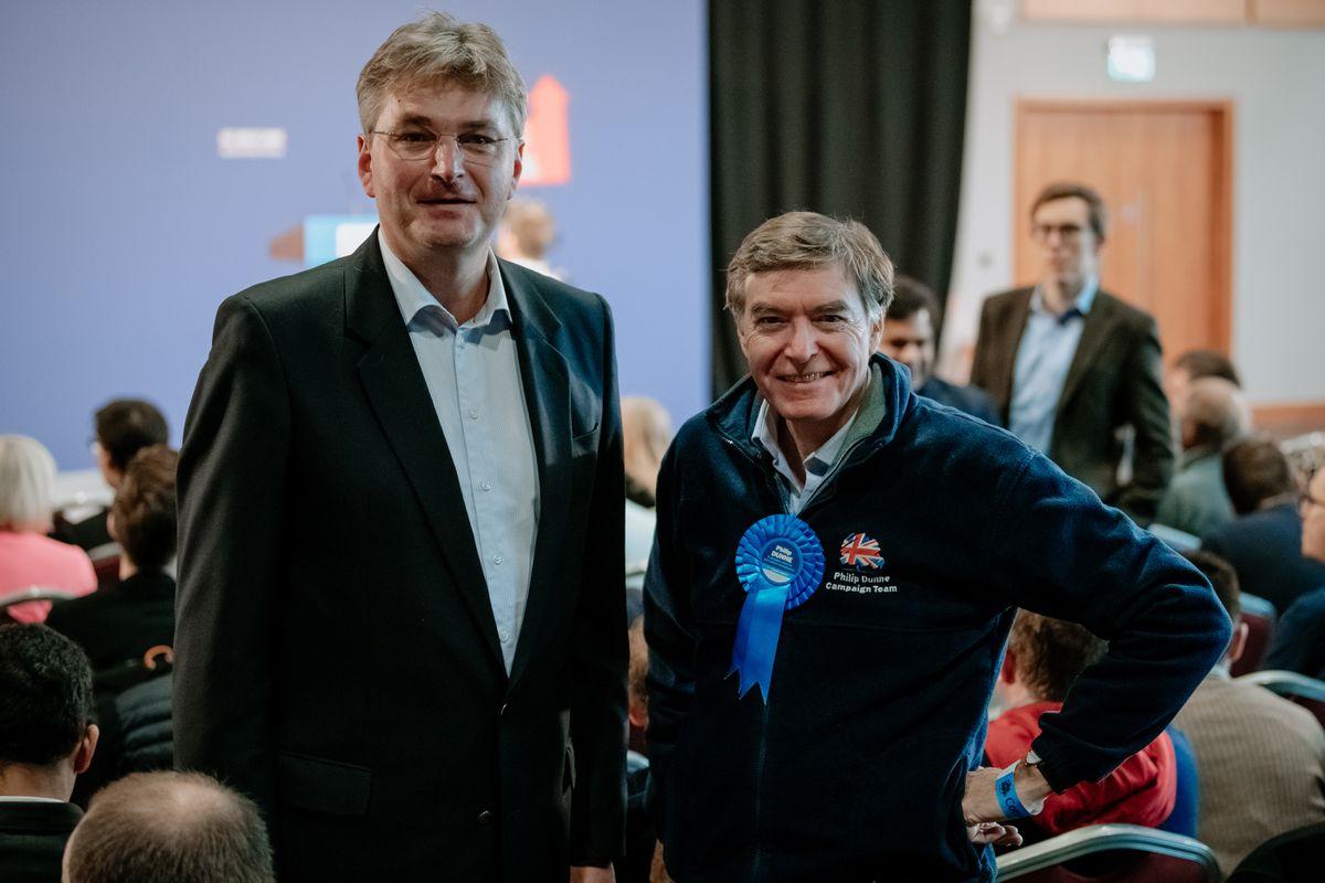 Shrewsbury MP Daniel Kawczynski MP with Ludlow MP Philip Dunne