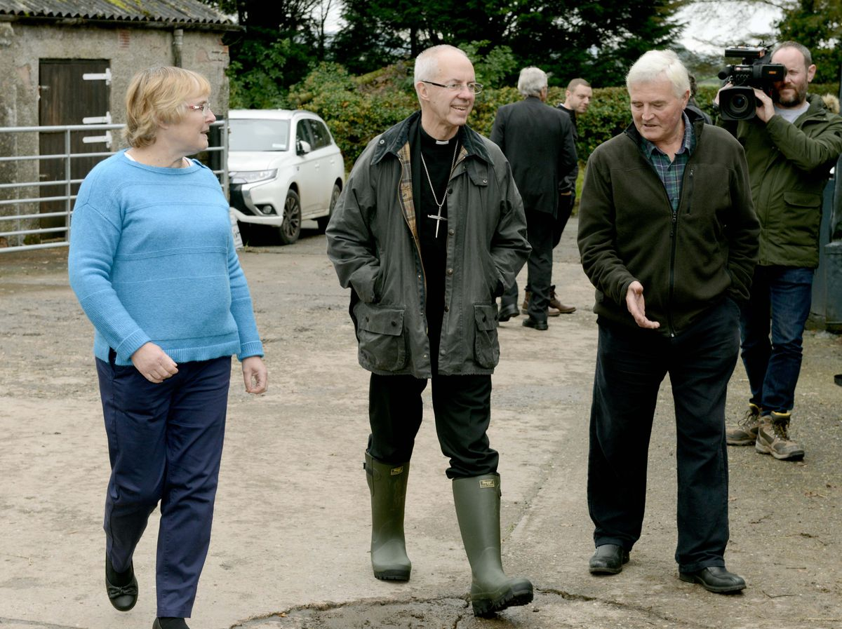 The Archbishop of Canterbury at Oakwood Farm in Longville, Much Wenlock