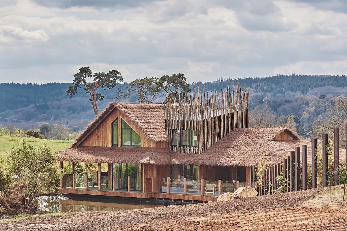 The exterior of one of the new Safari Lodges at West Midland Safari Park