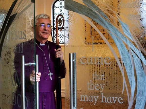 Bishop of Lichfield unveils new chapel doors at Telford's Wrekin College