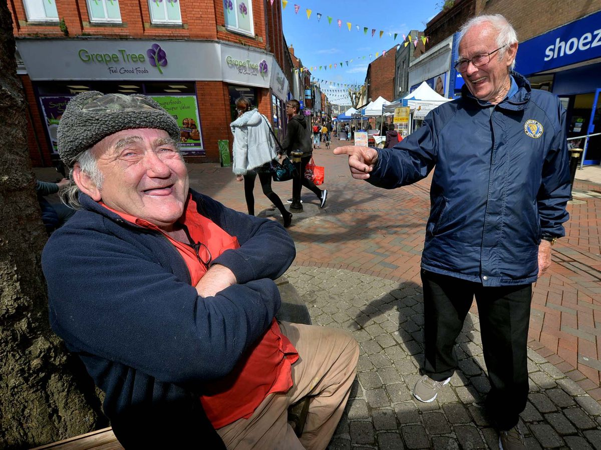 Tom Casewell, left, can't wait to get back in the pub, while Pryce Vaughan is looking forward to watching Shrewsbury Town again