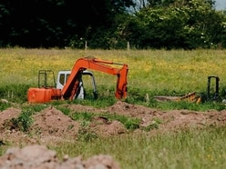 Bomb squad detonates shell found at Oswestry building site