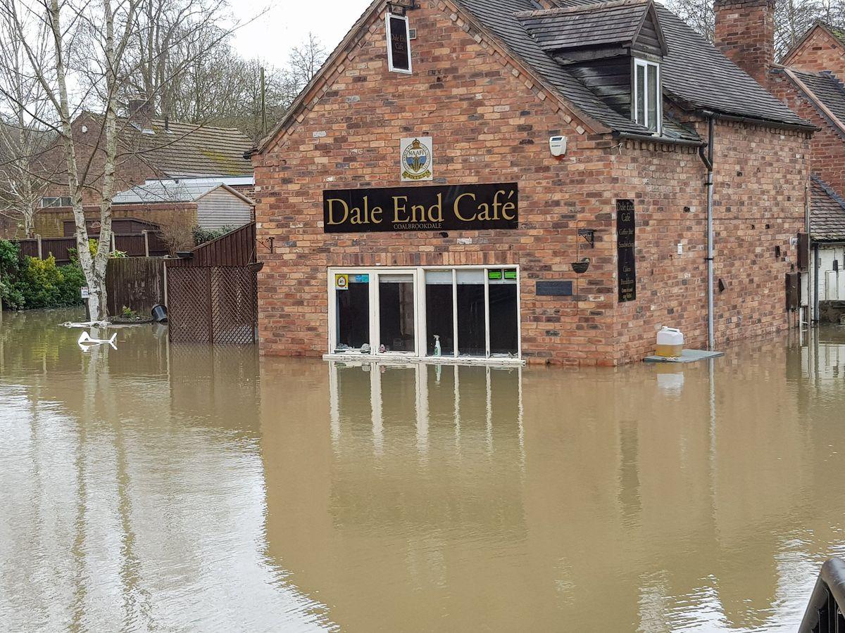 Dale End Cafe in Coalbrookdale was flooded