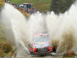 Splashing time in the forests as Rally of Wales passes through