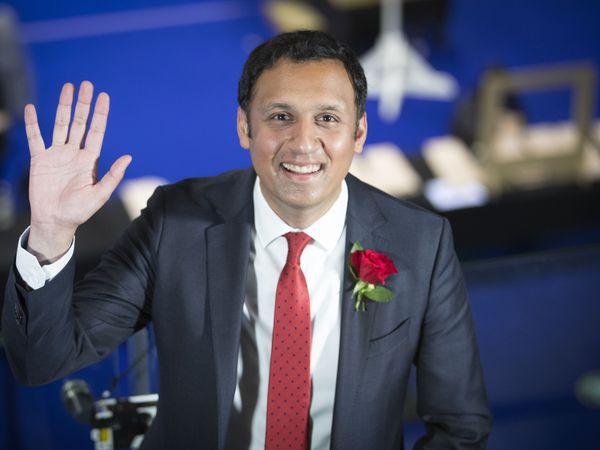 Anas Sarwar waving