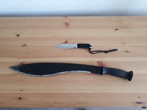 Bladed weapons found at the address