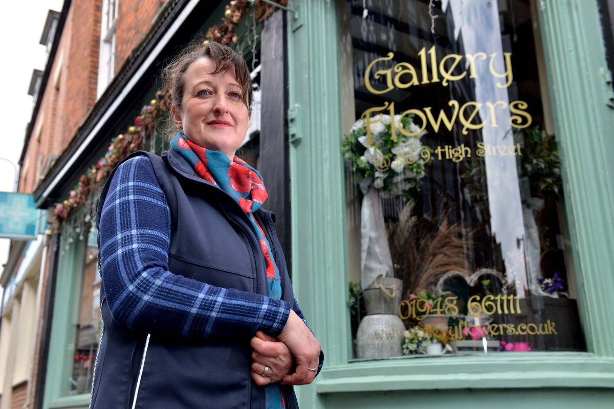 Jenny McHale outside Gallery Flowers in Whitchurch